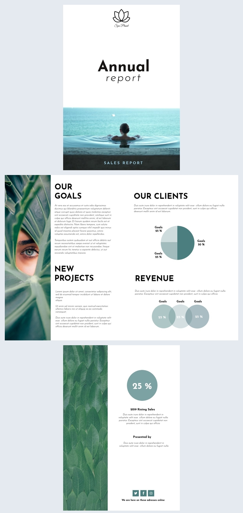 Modern Annual Sales Report Design