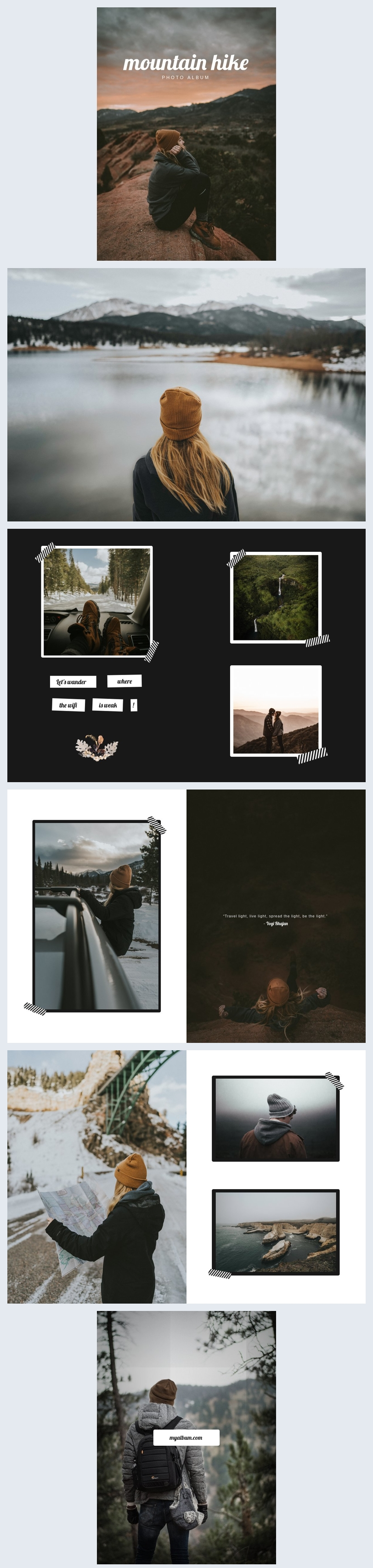 Holiday Photo Album Template