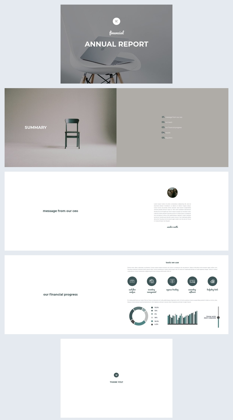 Financial Annual Report Template