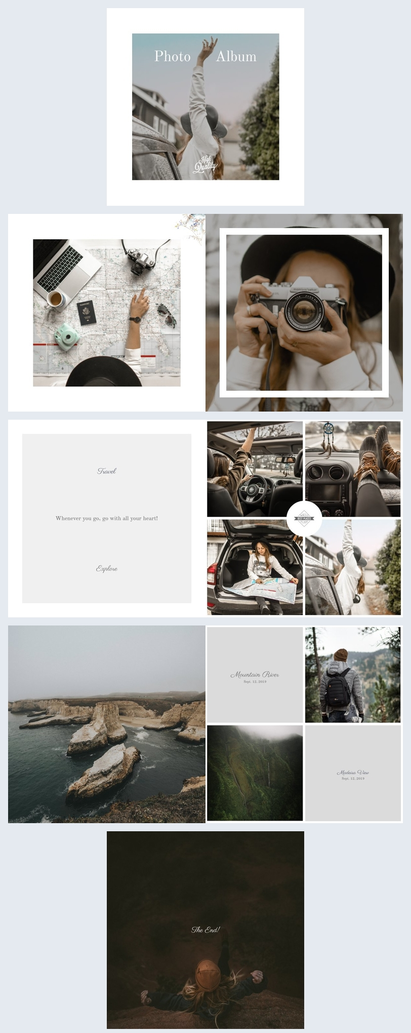 Holiday Photo Book Template
