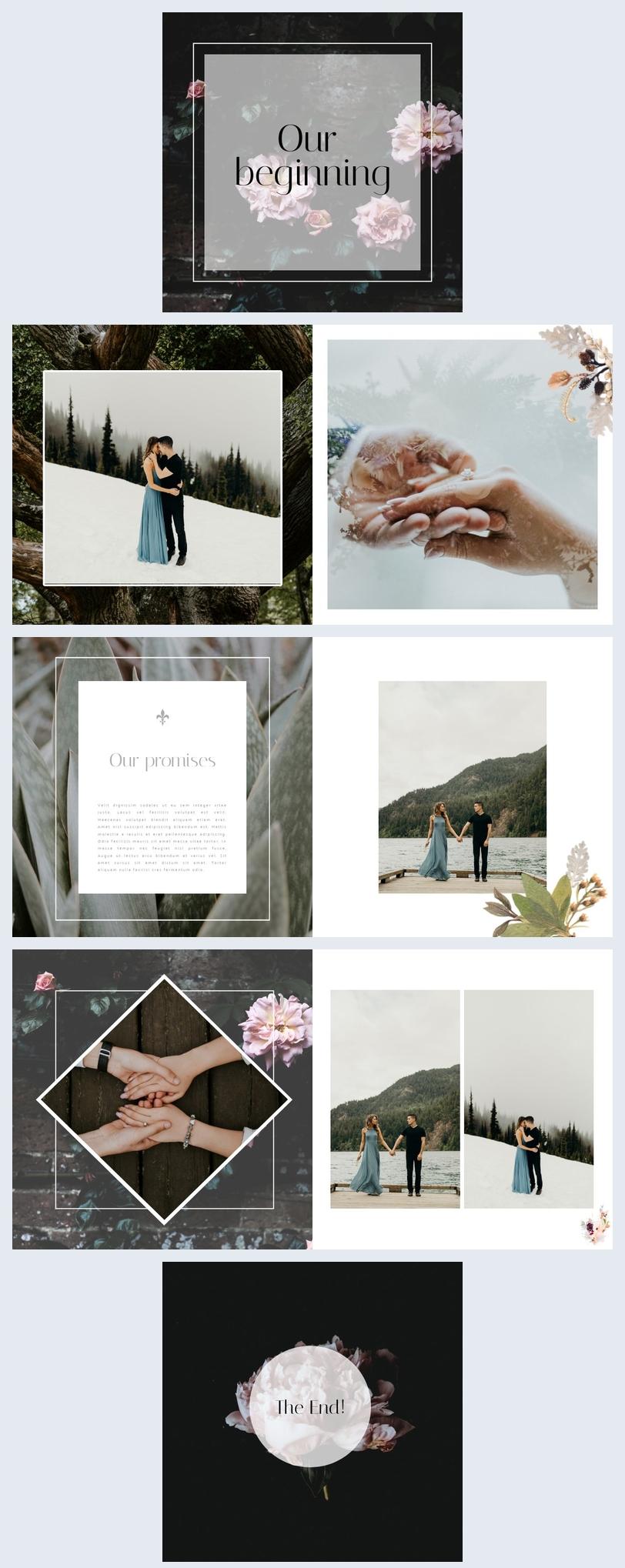 Minimalistic Engagement Photo Album Template