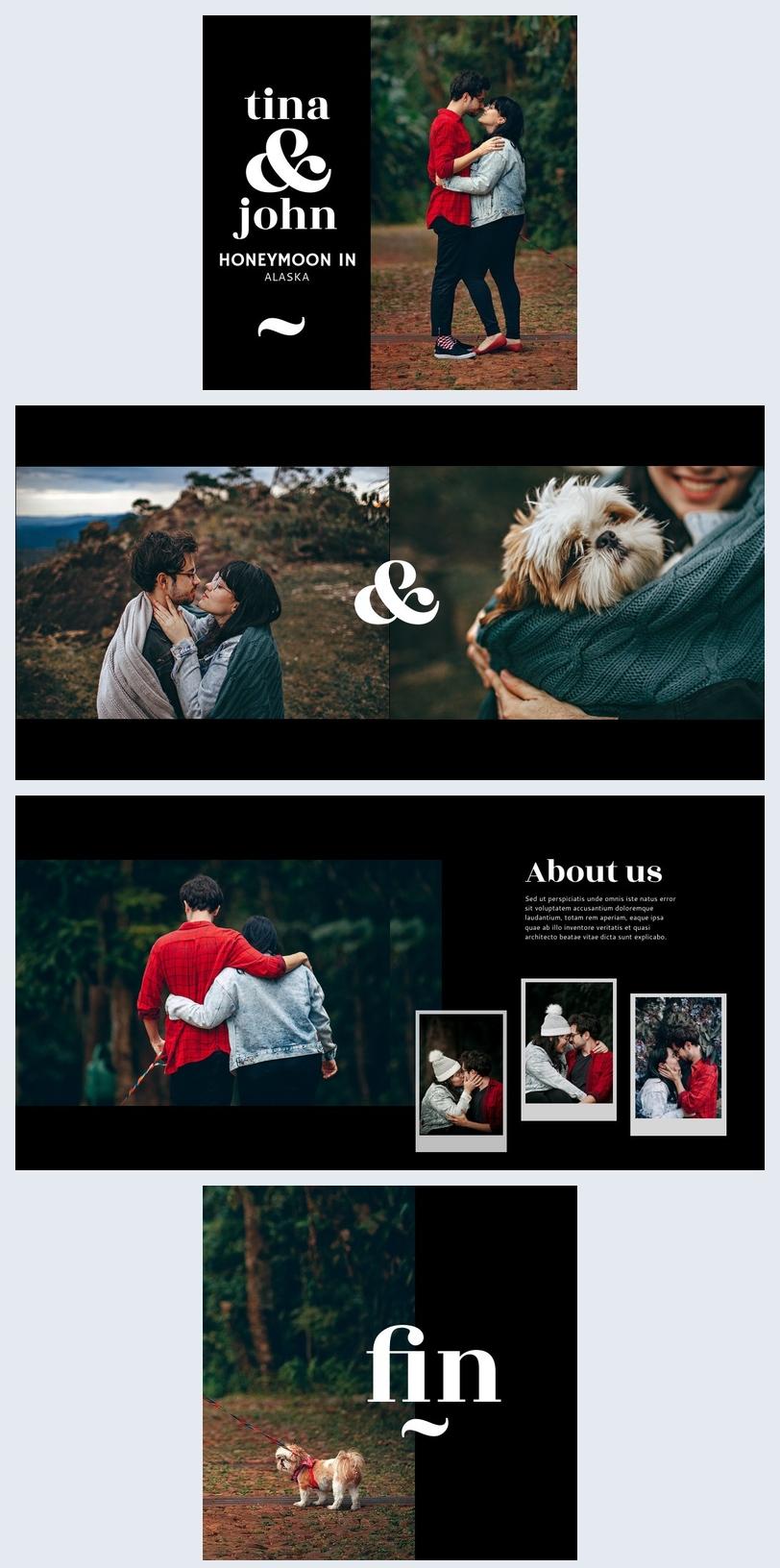 Honeymoon Photo Album Template