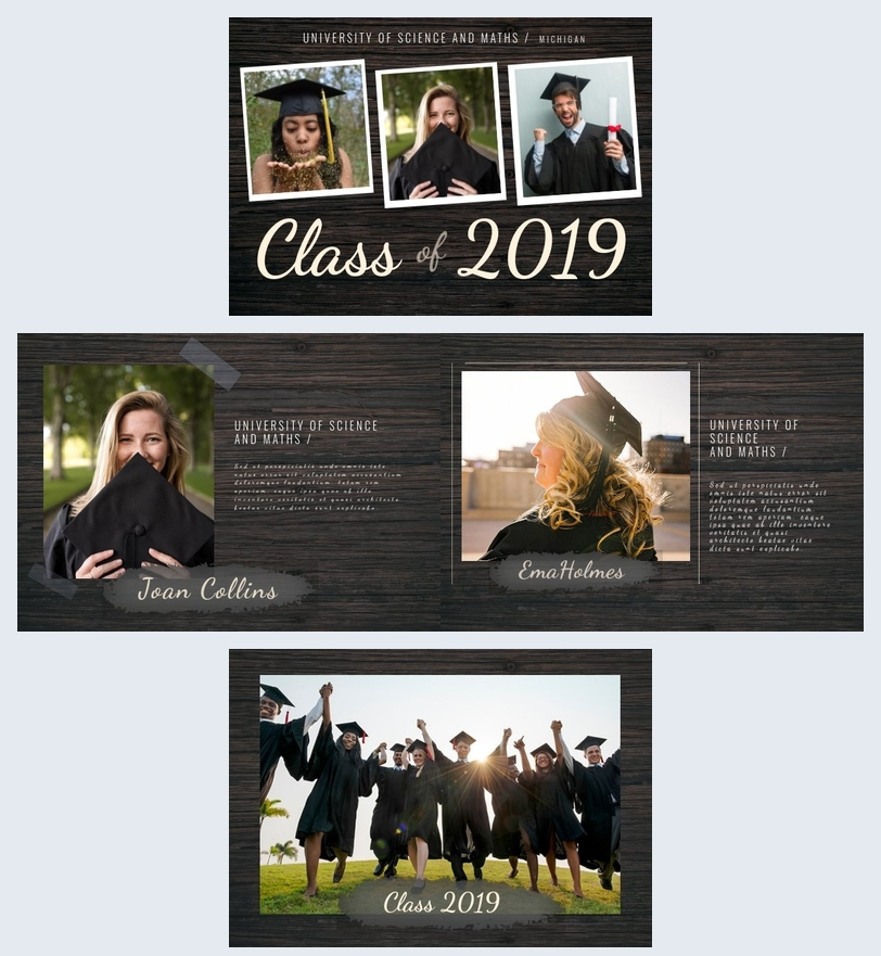 College Graduation Album Template