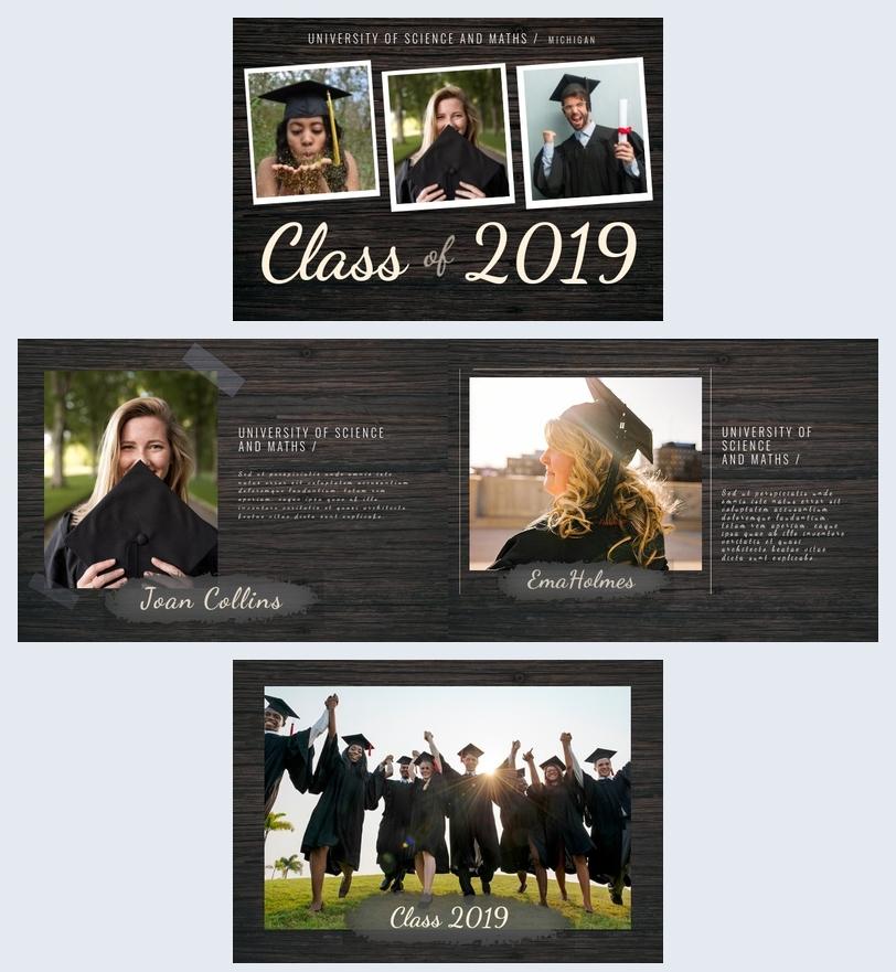 Universiteit Diploma uitreiking Album Sjabloon