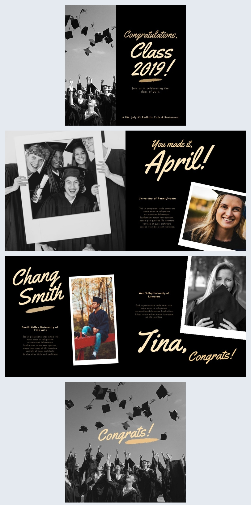Graduation Photo Book Template