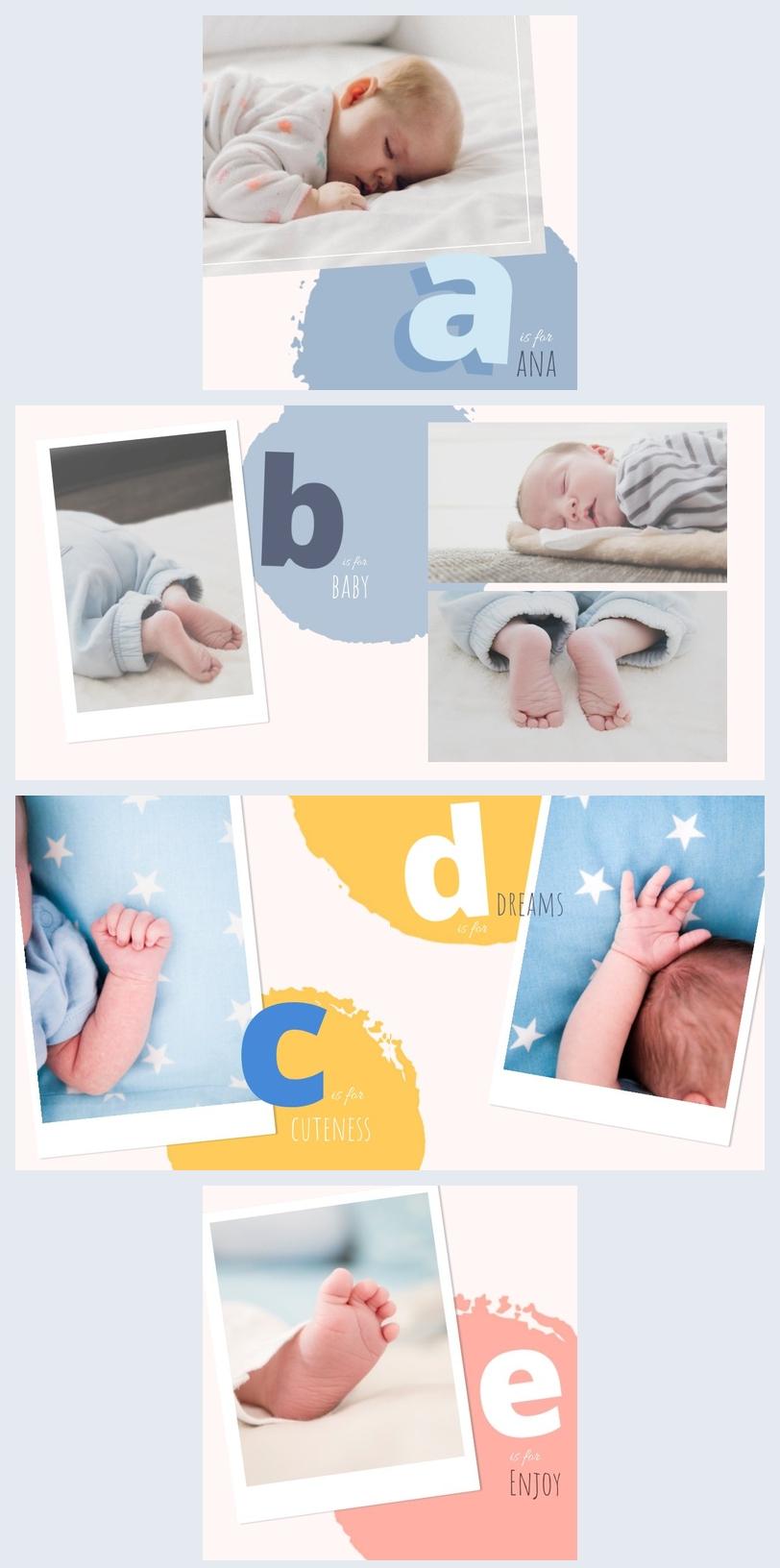 Baby Girl Photo Album Design