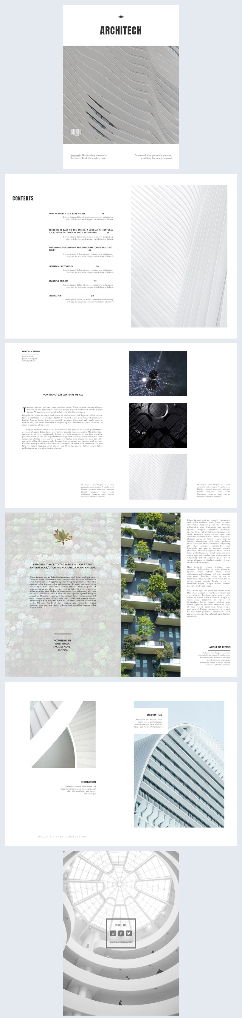 Plantilla para revista de arquitectura