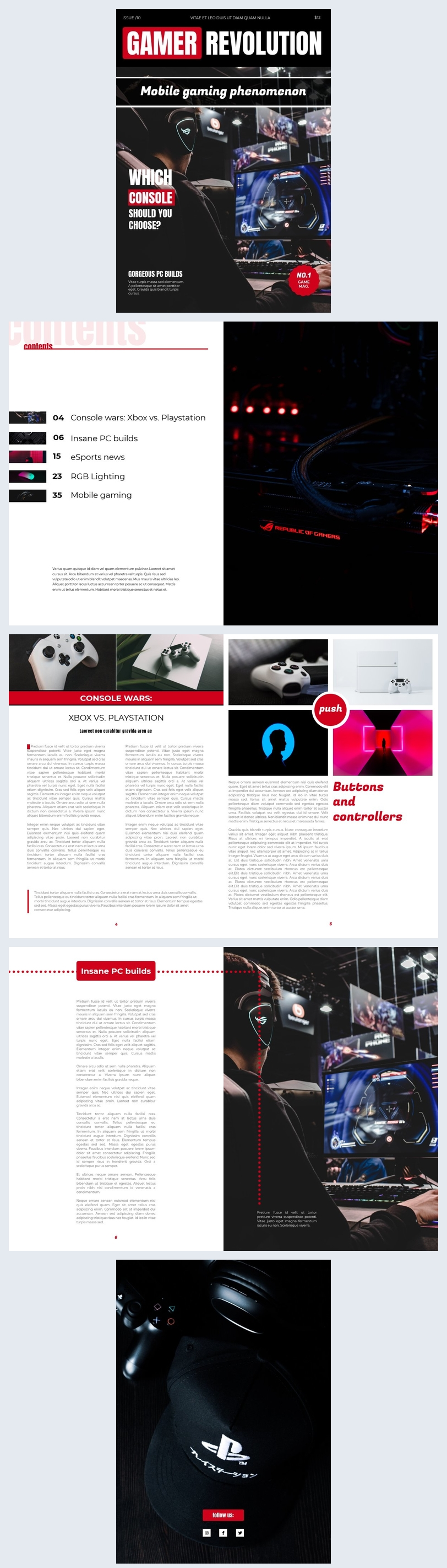 Game Magazine Template