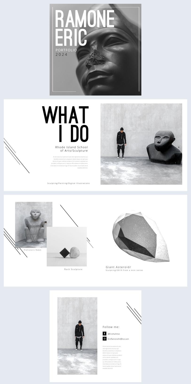Modèle de portfolio d'art