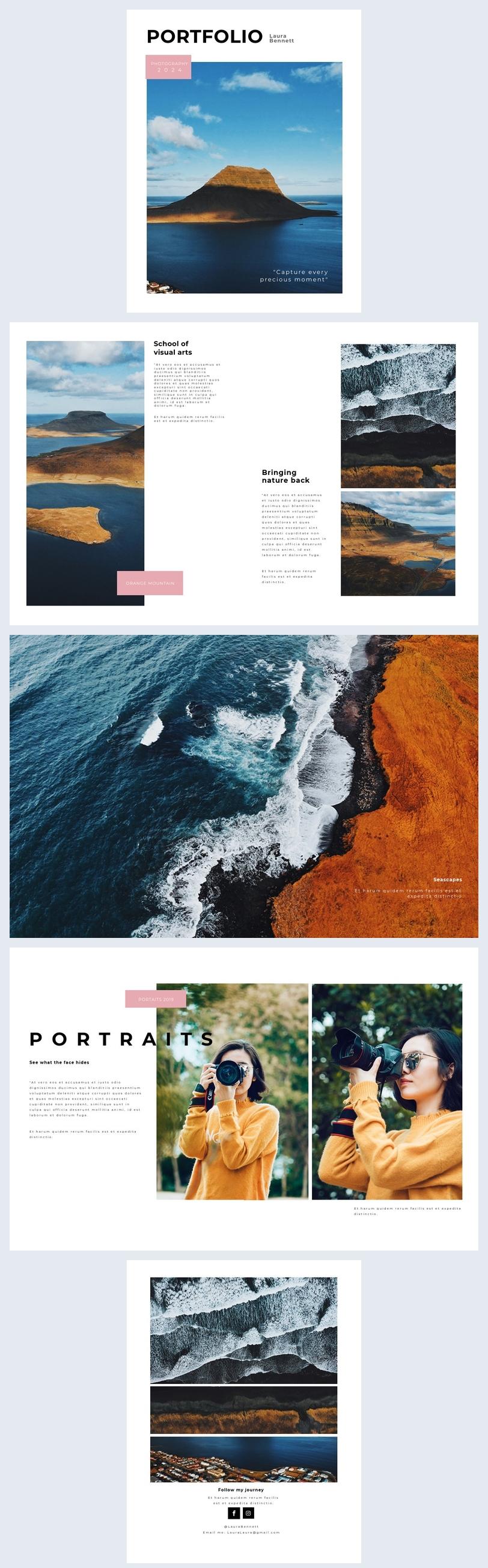 Photography Portfolio Design