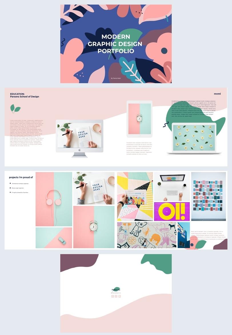 modern graphic designer portfolio template