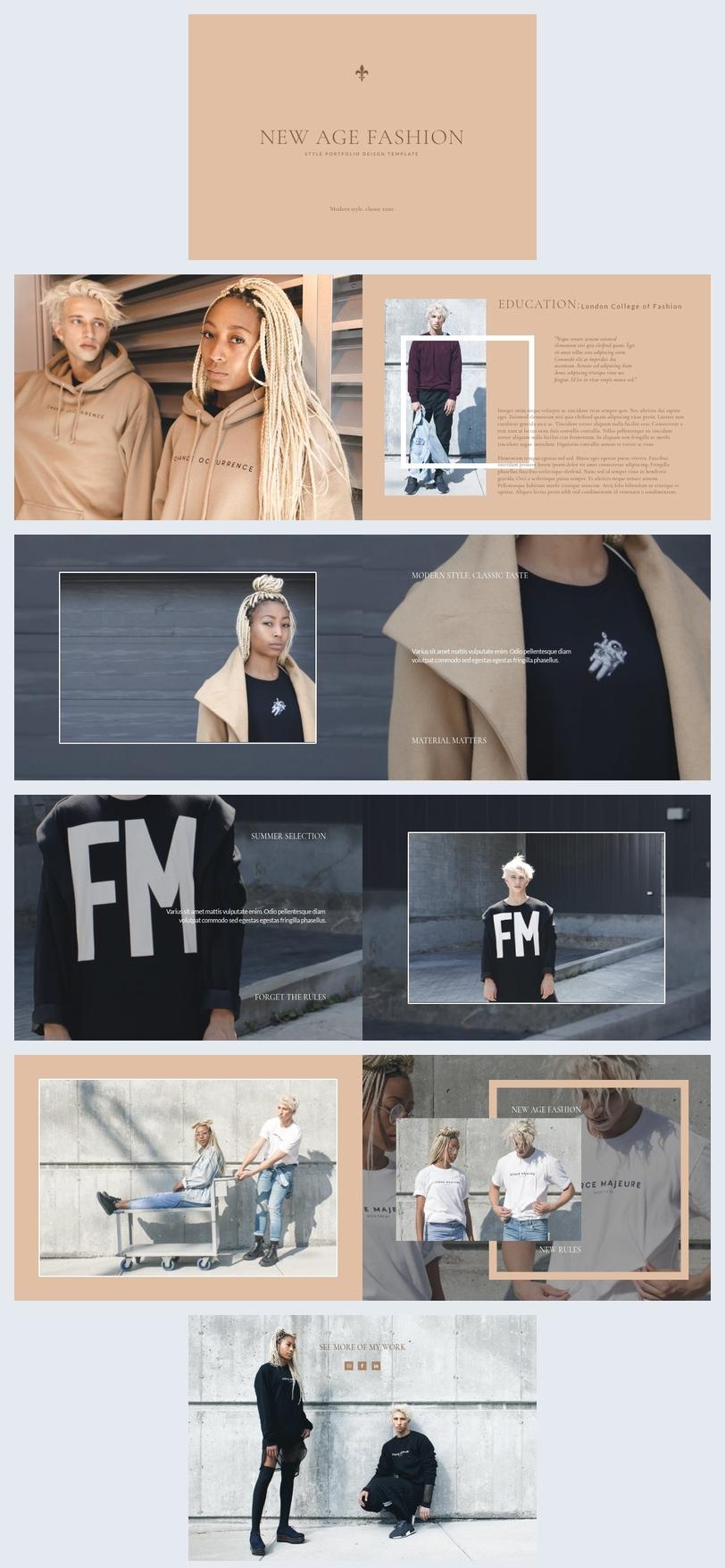 Style Portfolio-Vorlage