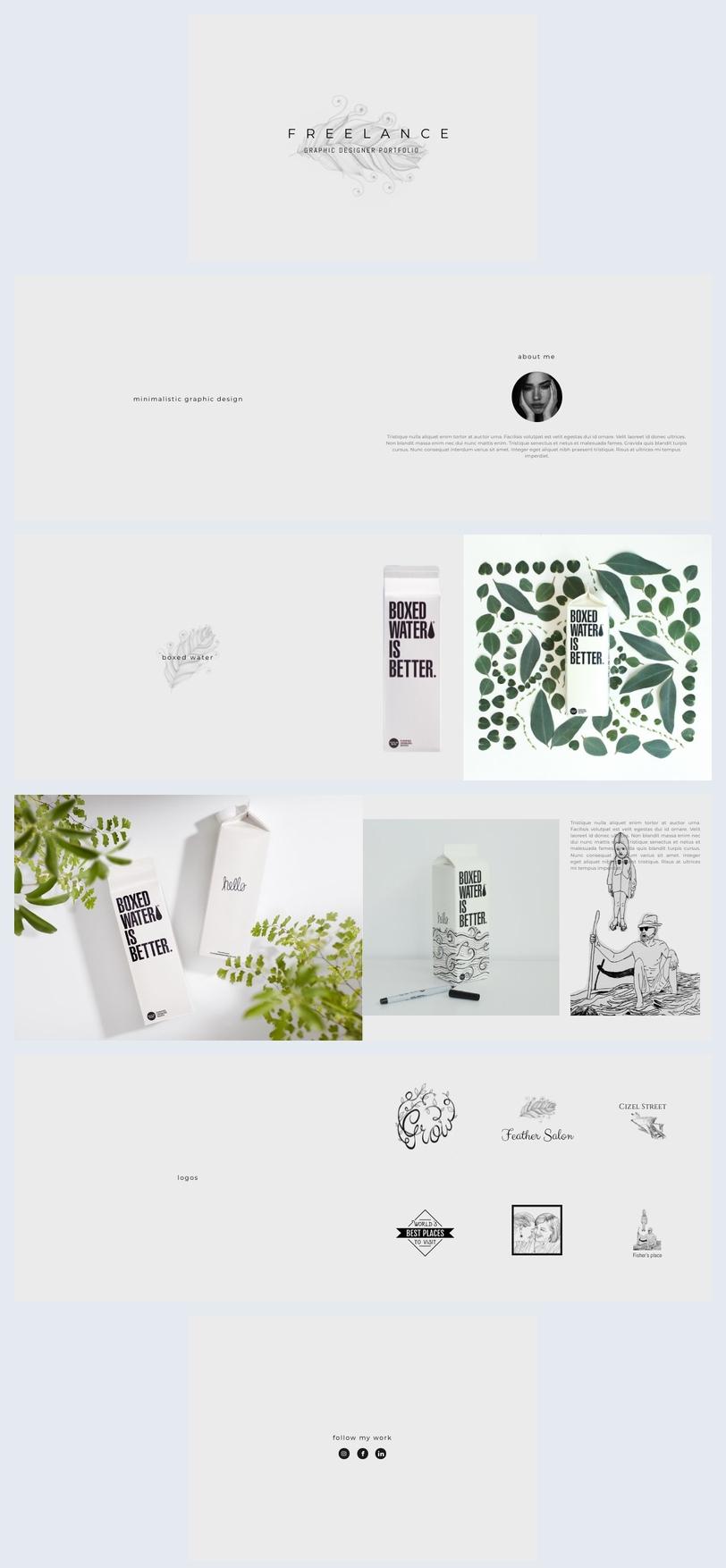 Freelance Graphic Designer Portfolio Template