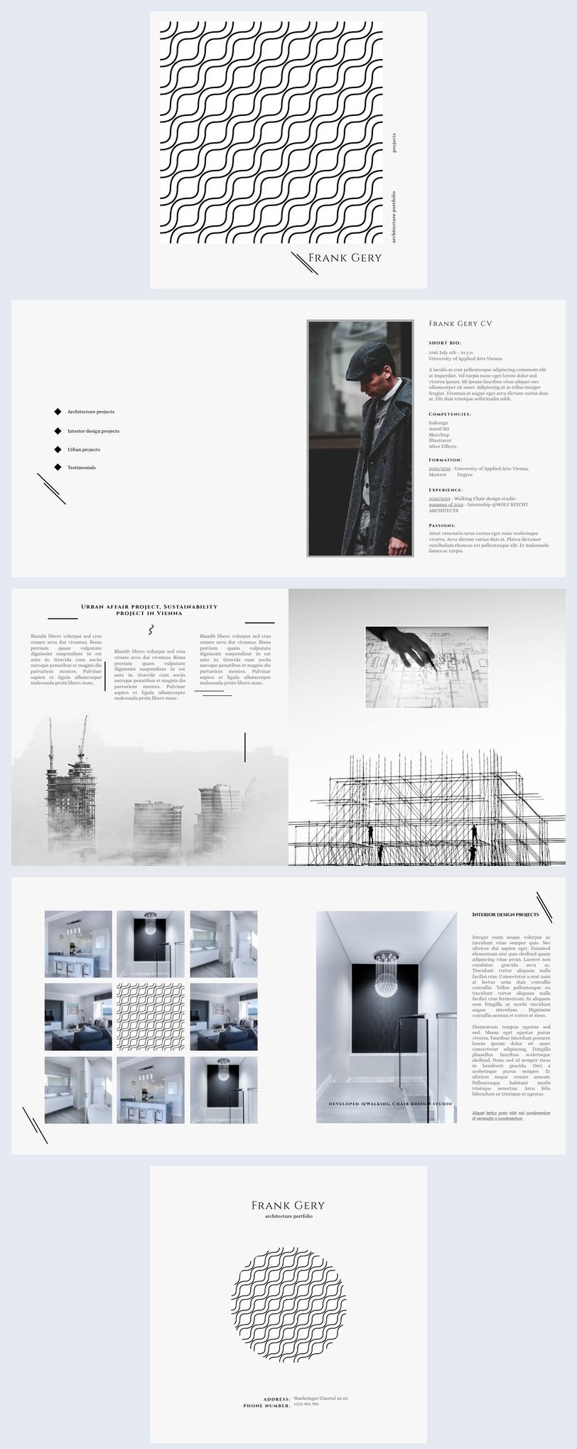Architekturportfolio-Vorlagendesign