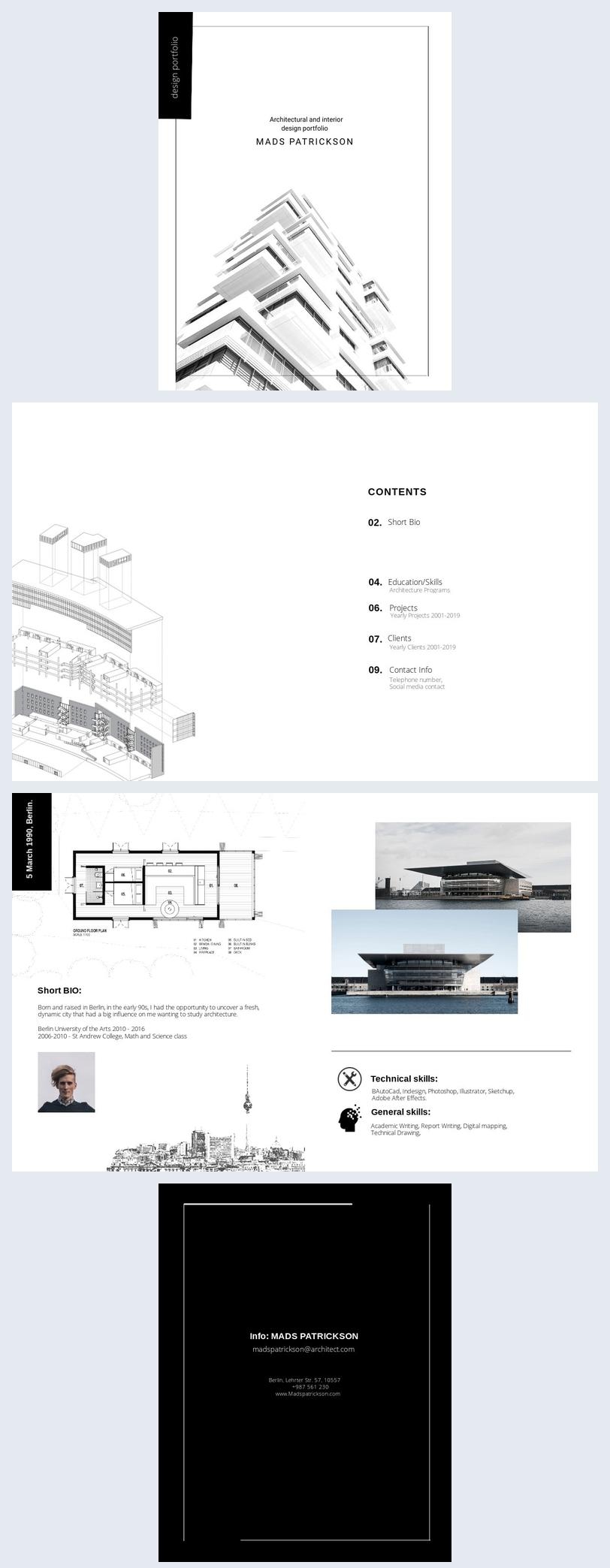 Architecture Student Portfolio Template