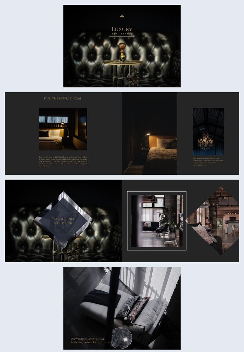 Immobilienbroschüren Design