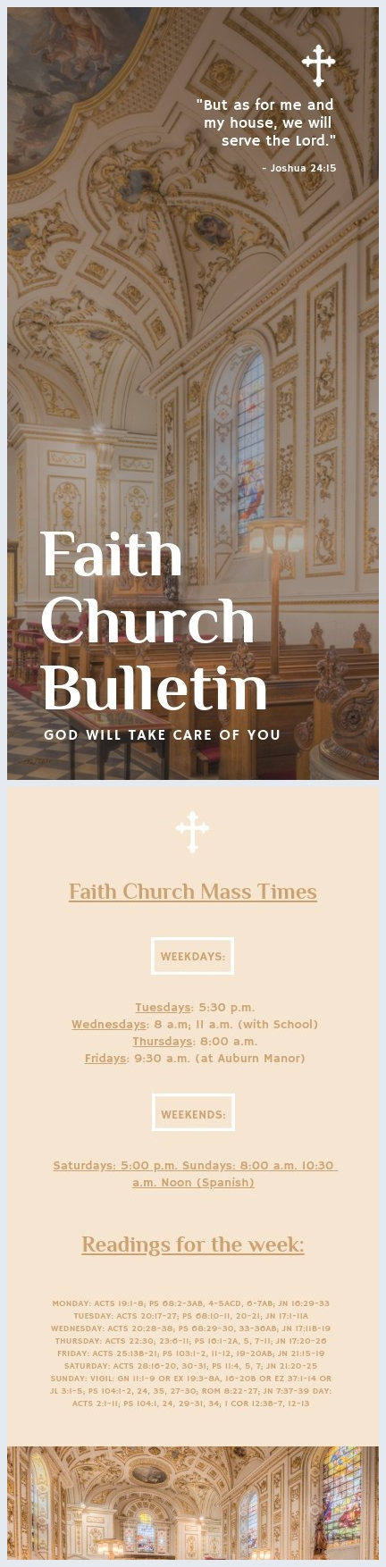 Kerk Bulletin Sjabloon