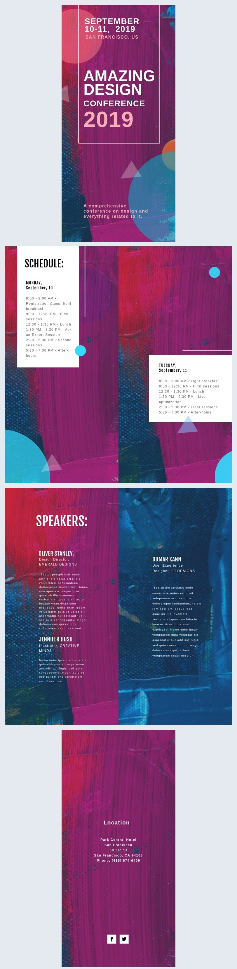 Design per programma di conferenza
