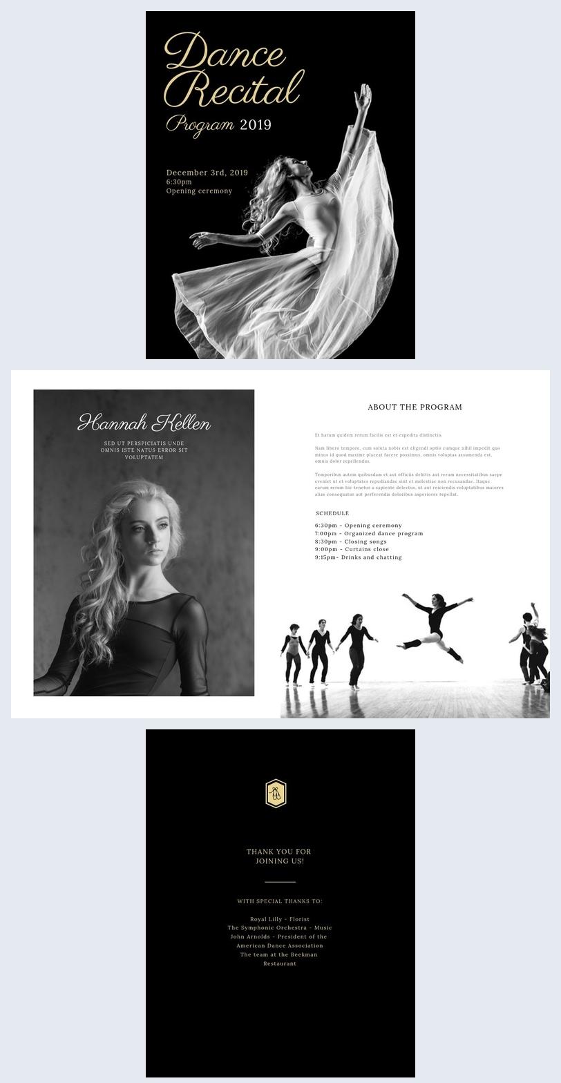 classical recital program template