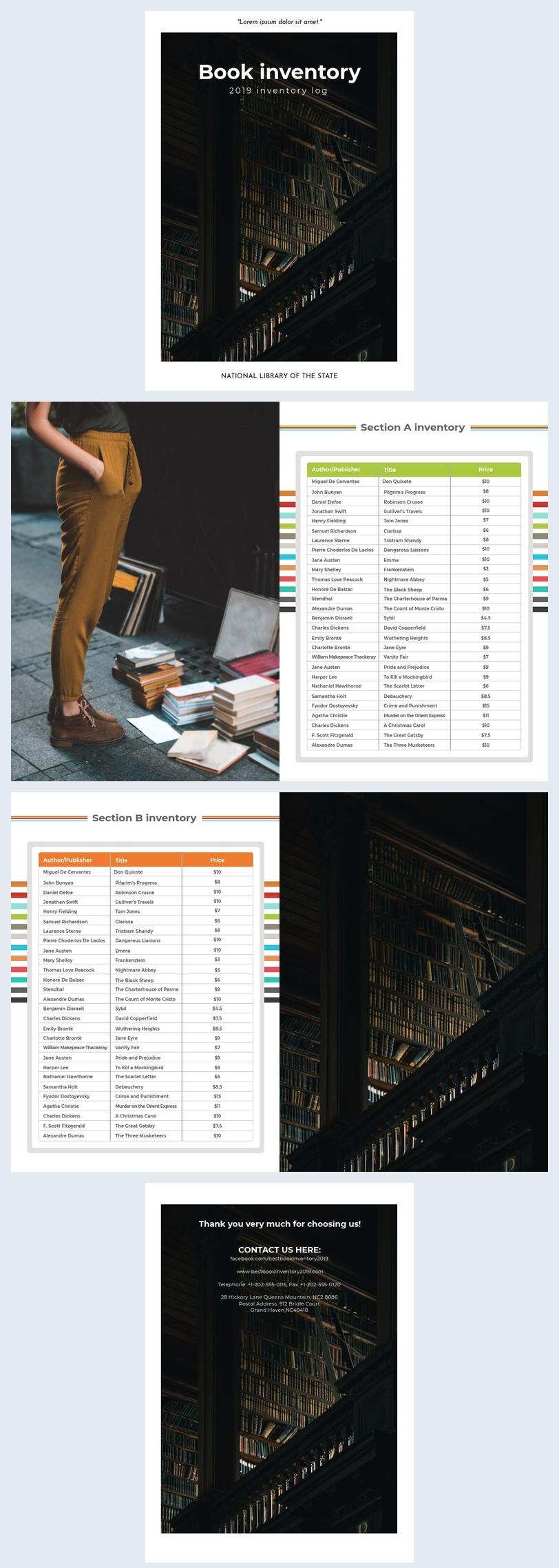 Modelo de Inventário de Livros