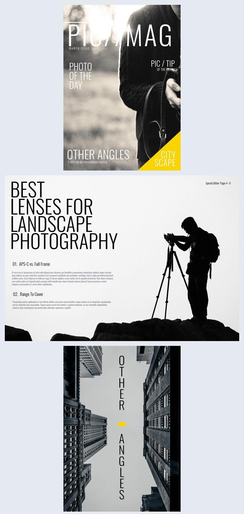 Fotografie Magazin Design