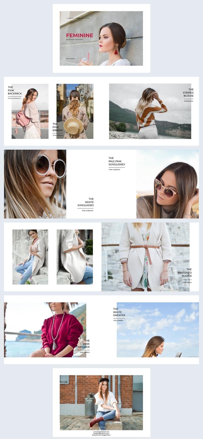 Modèle de catalogue de mode