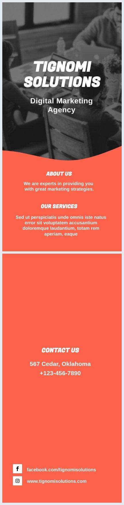 Grafica di opuscolo per il marketing