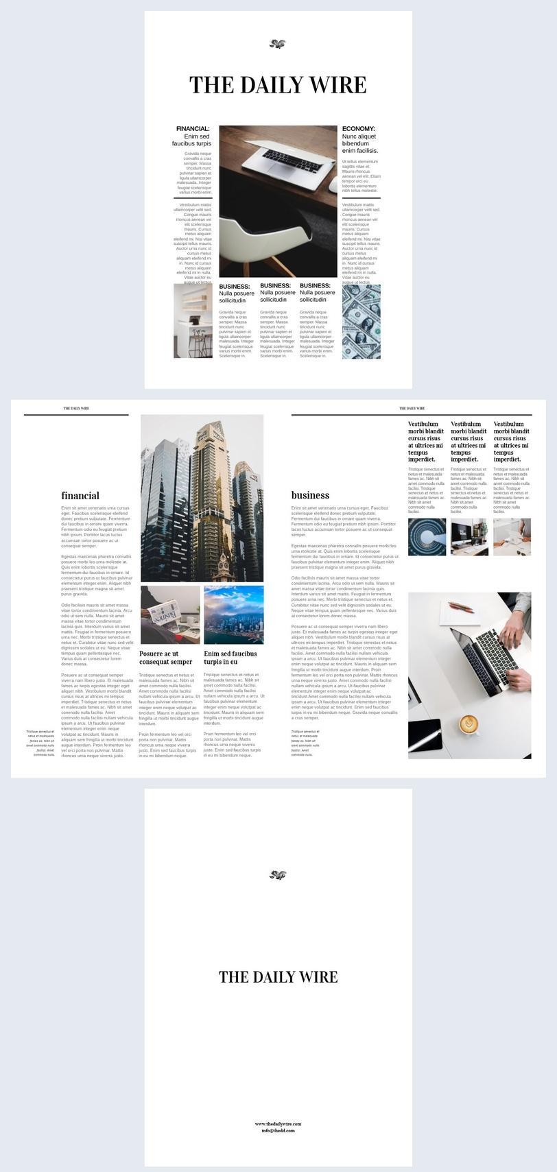Modelo de Revista de Jornal