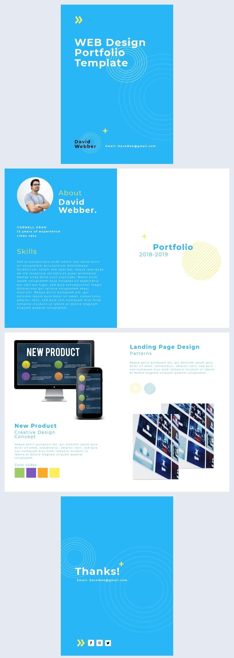 Plantilla para portafolios de diseño de sitios web