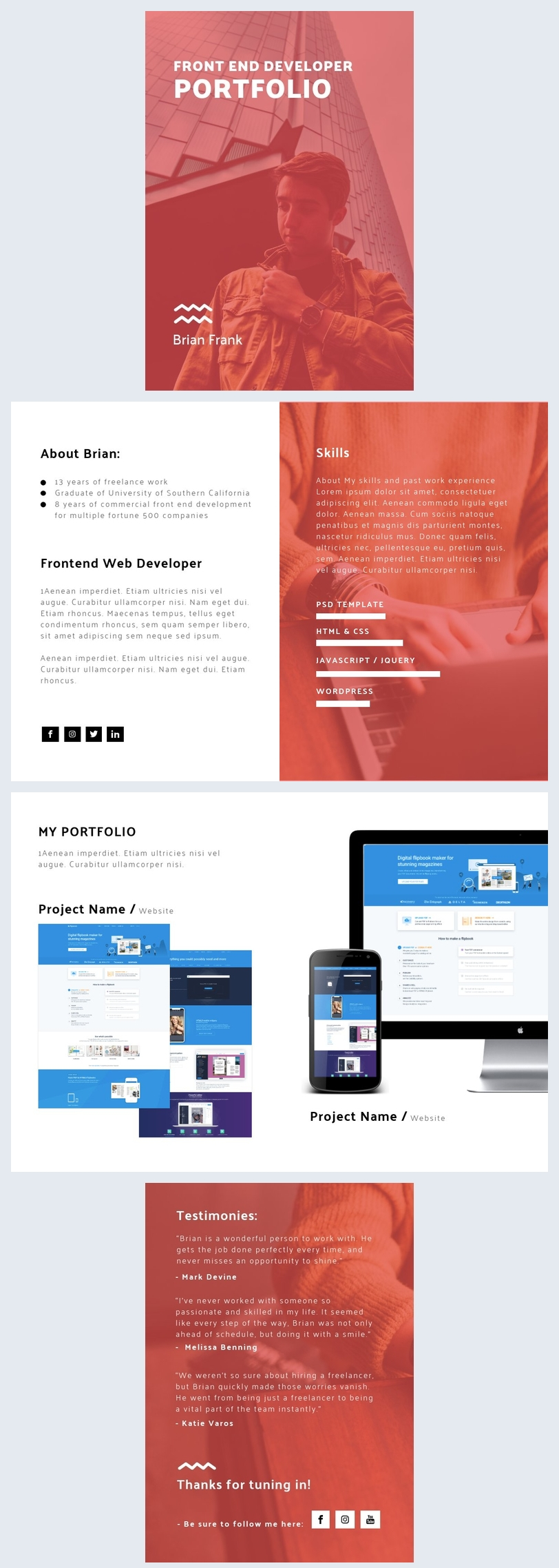 Front End Developer Portfolio Template Flipsnack