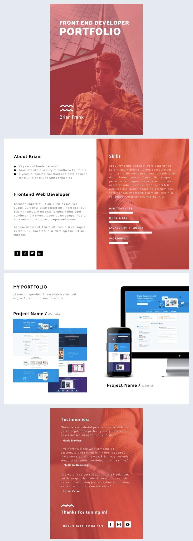Entwickler-Portfolio-Vorlage