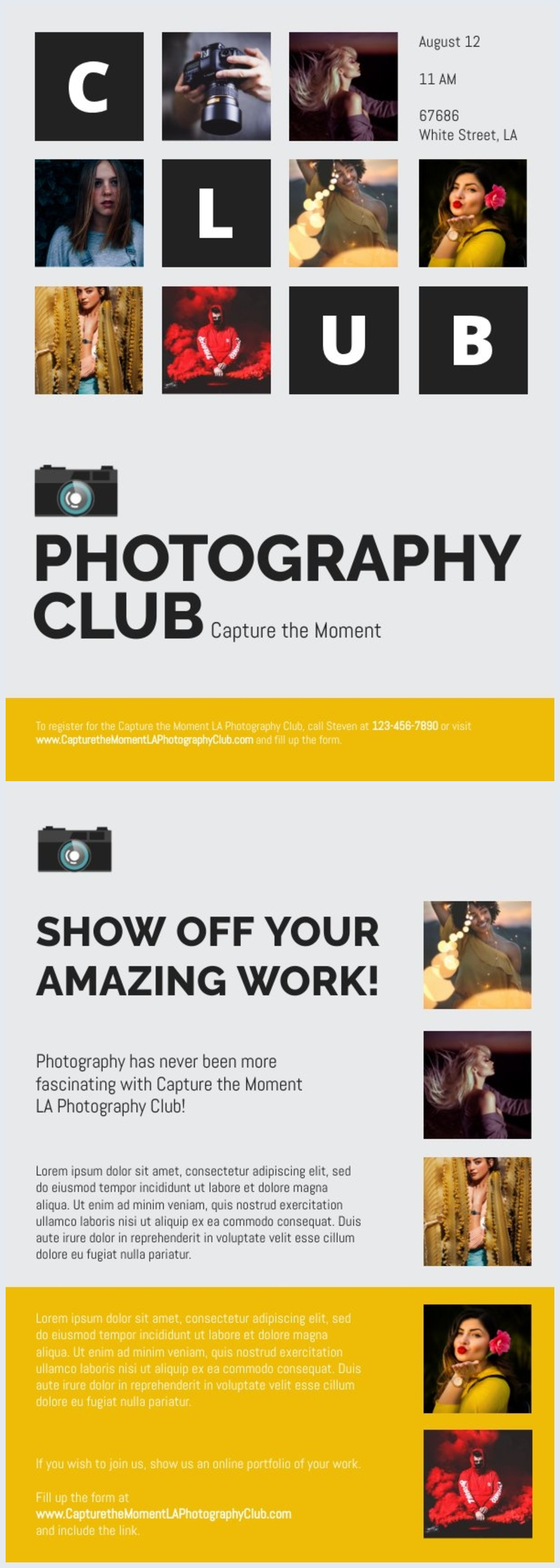 Photography Club Flyer Template