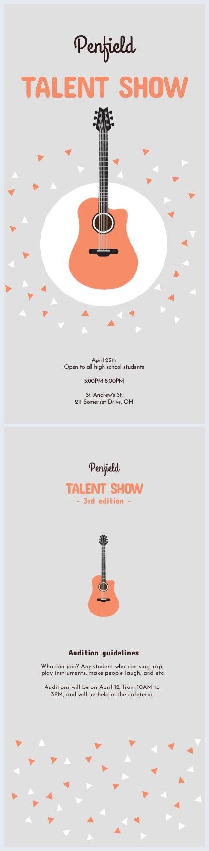 Talent Show Program Template