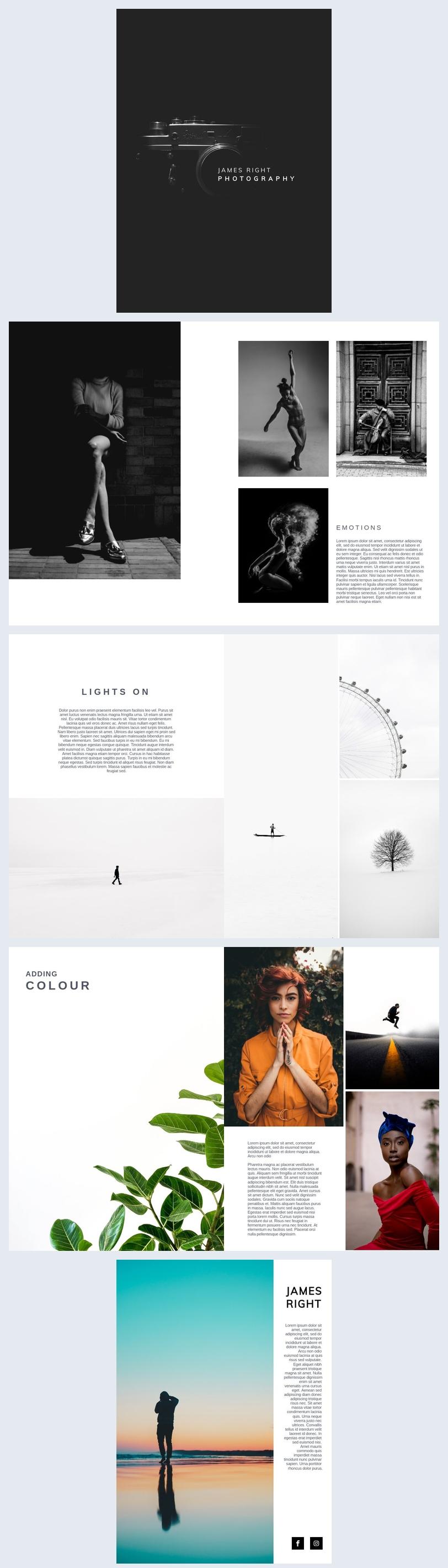 Modello per portfolio fotografico