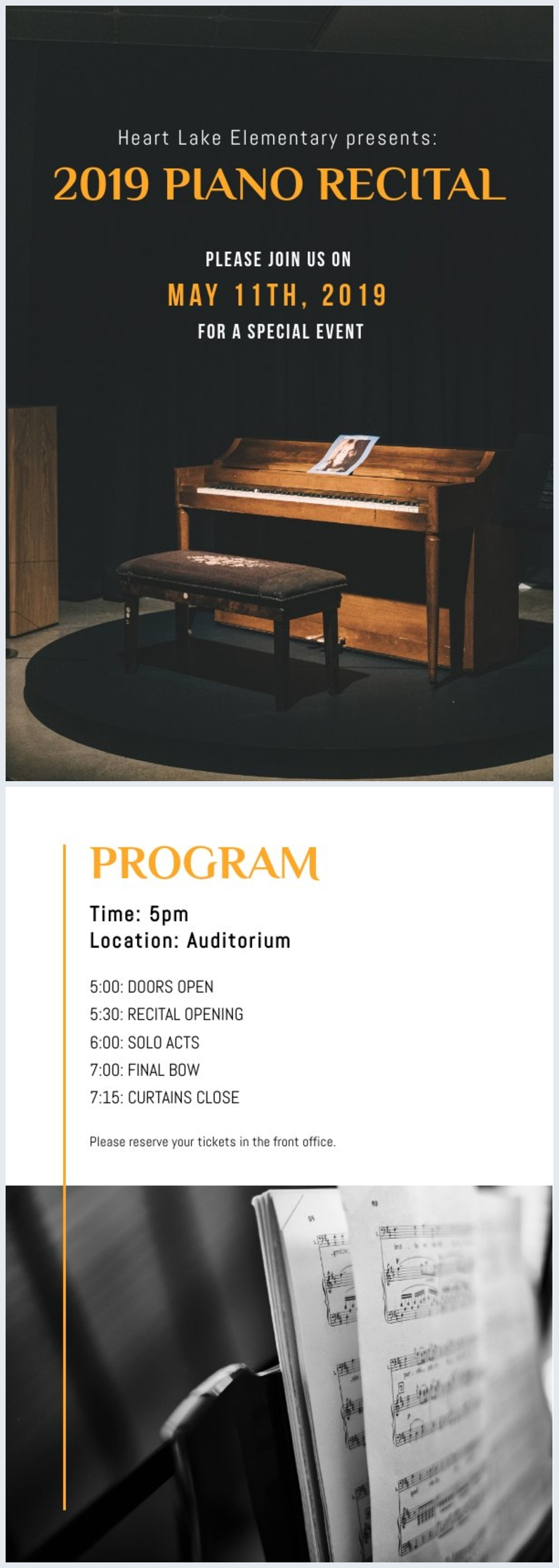 Piano Recital Program