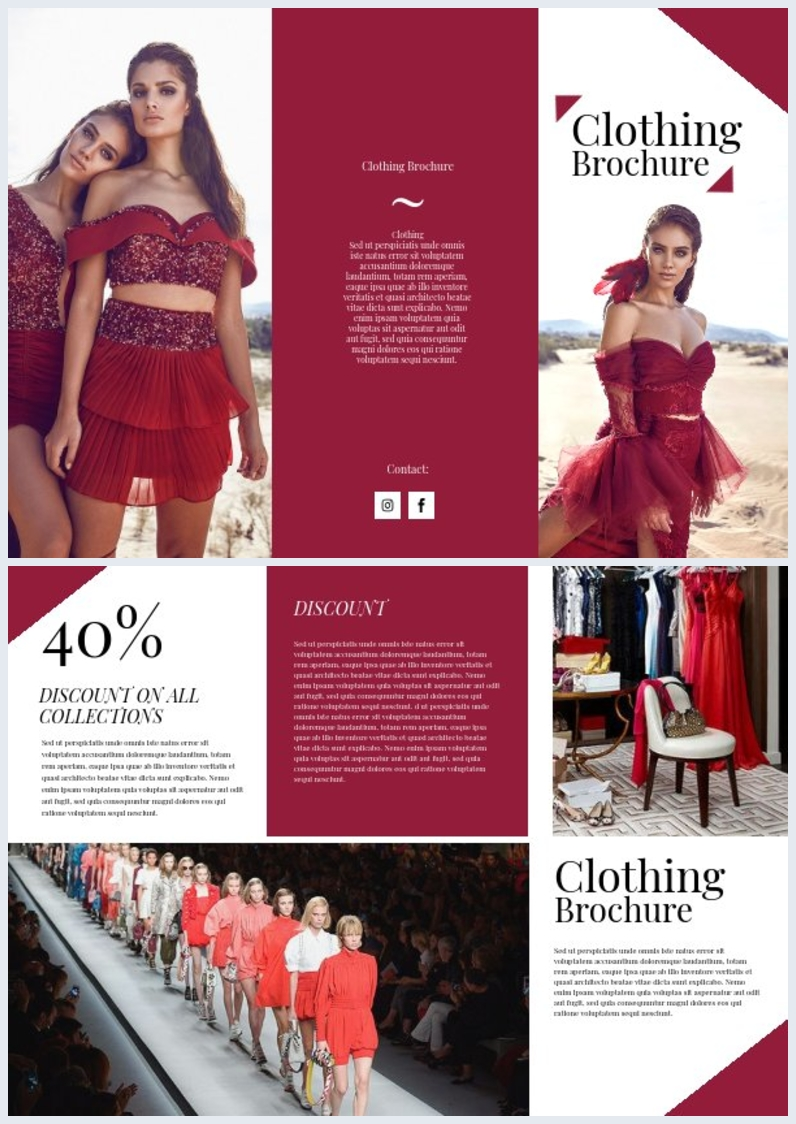 Clothing Brochure Template