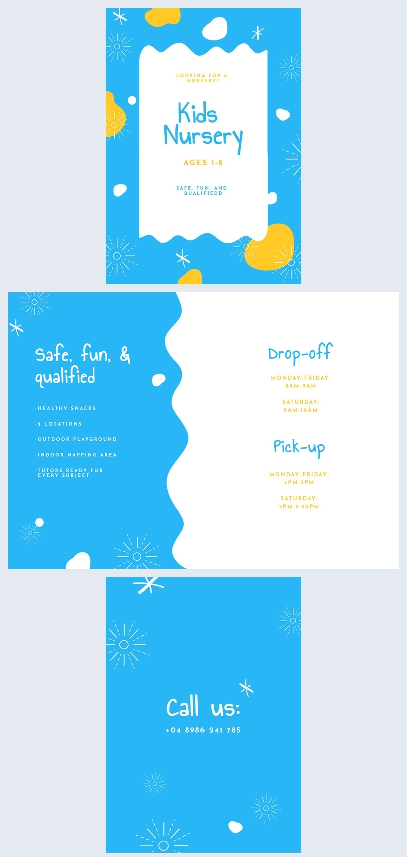 Nursery Flyer Template