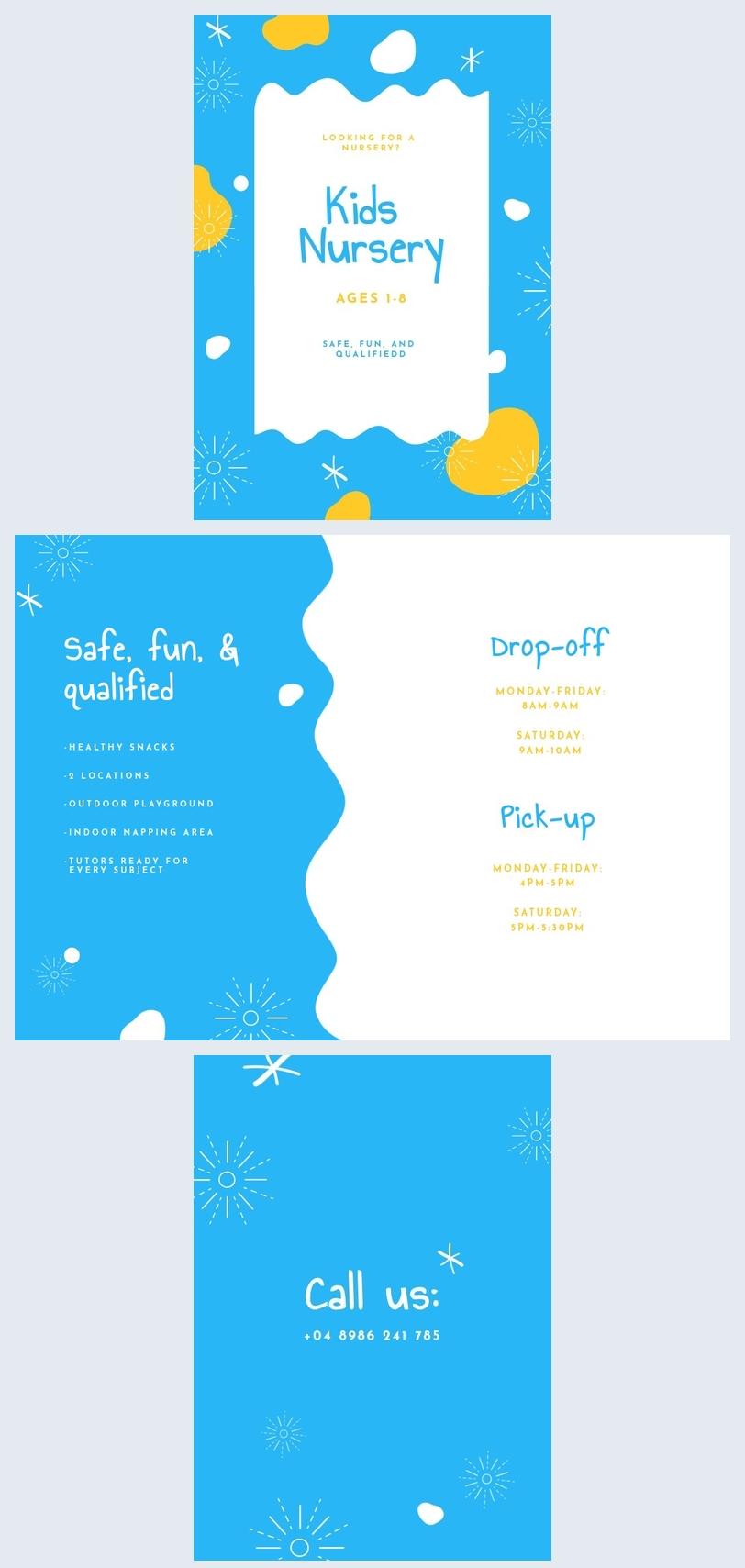 Nursery Flyer Template