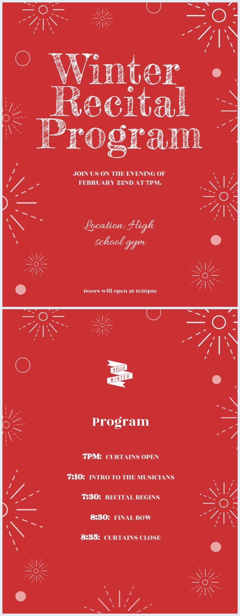 Recital Program Template