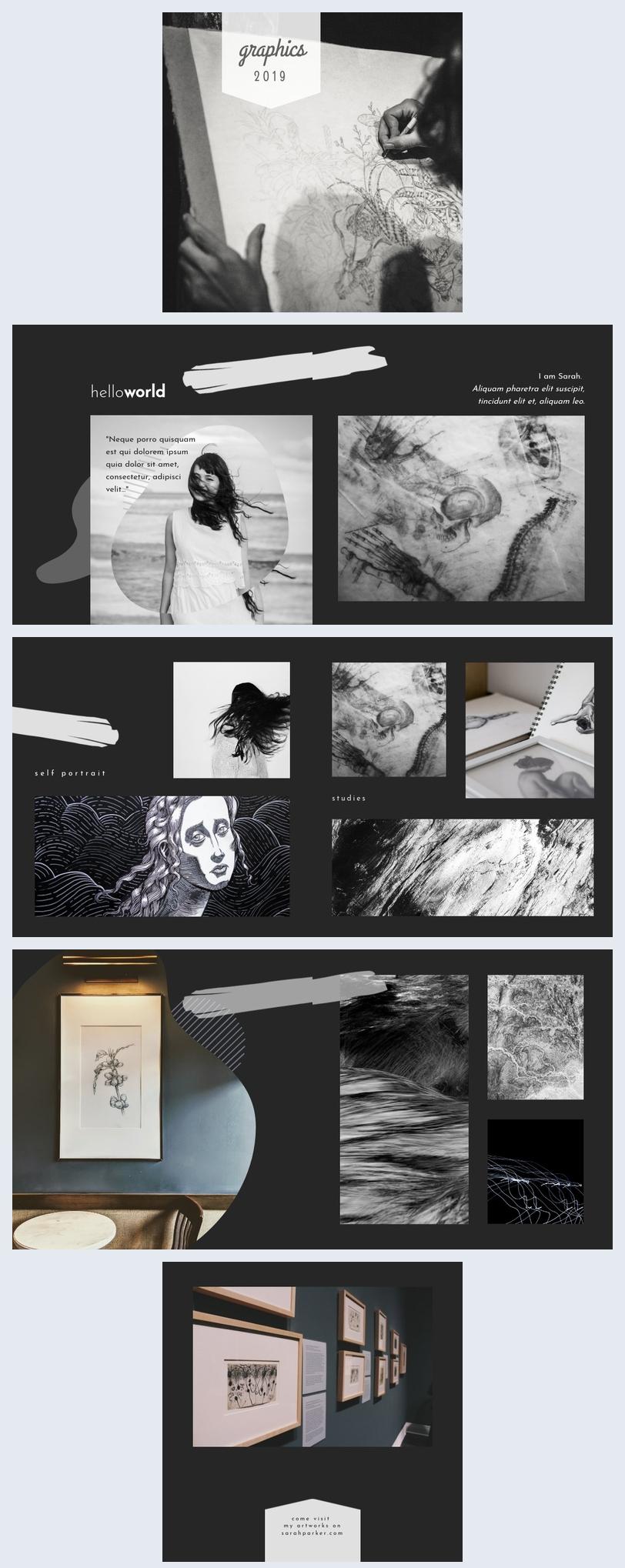 Artwork Portfolio Template