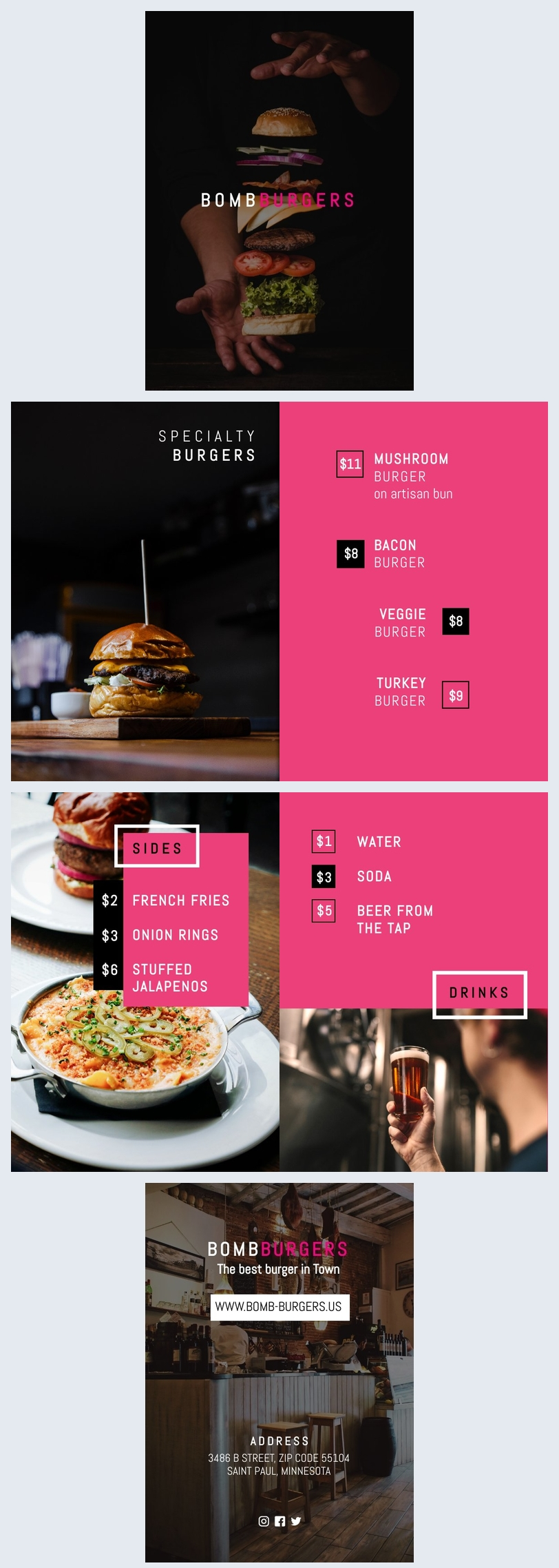 Burger Menu Design