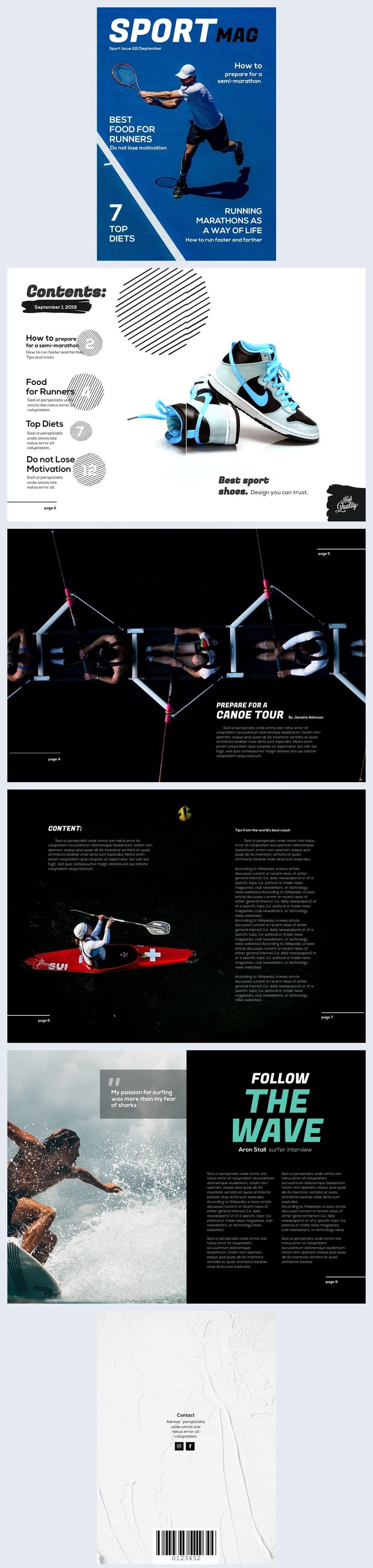 Design de magazine sportif
