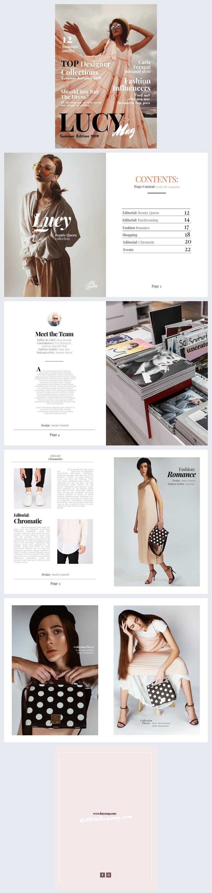 Grafica per rivista di moda