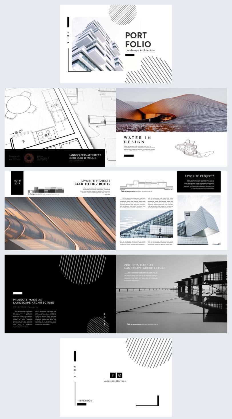 Exemple de portfolio d'architecture paysagère