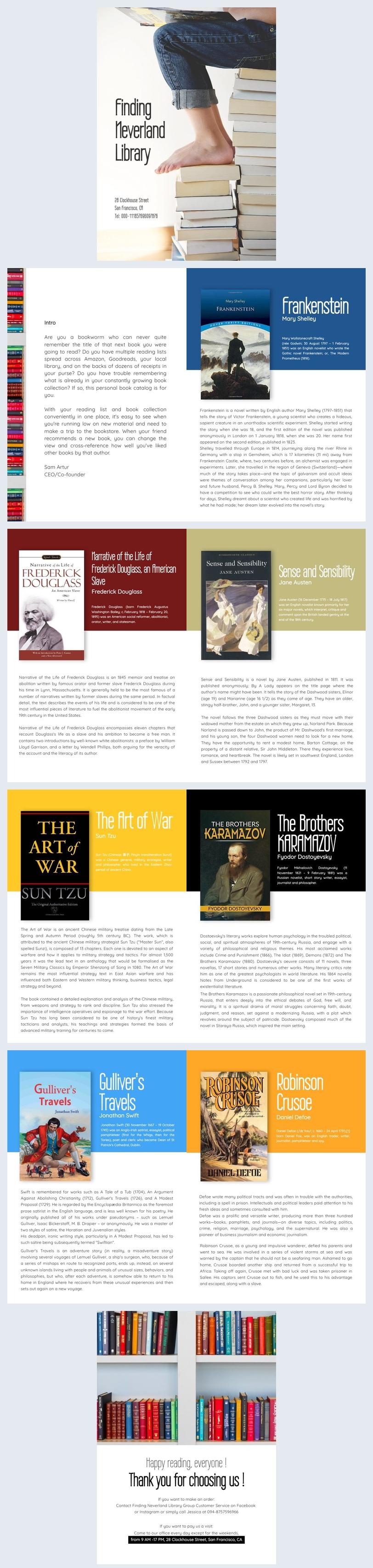 Design de Catálogo de Livros