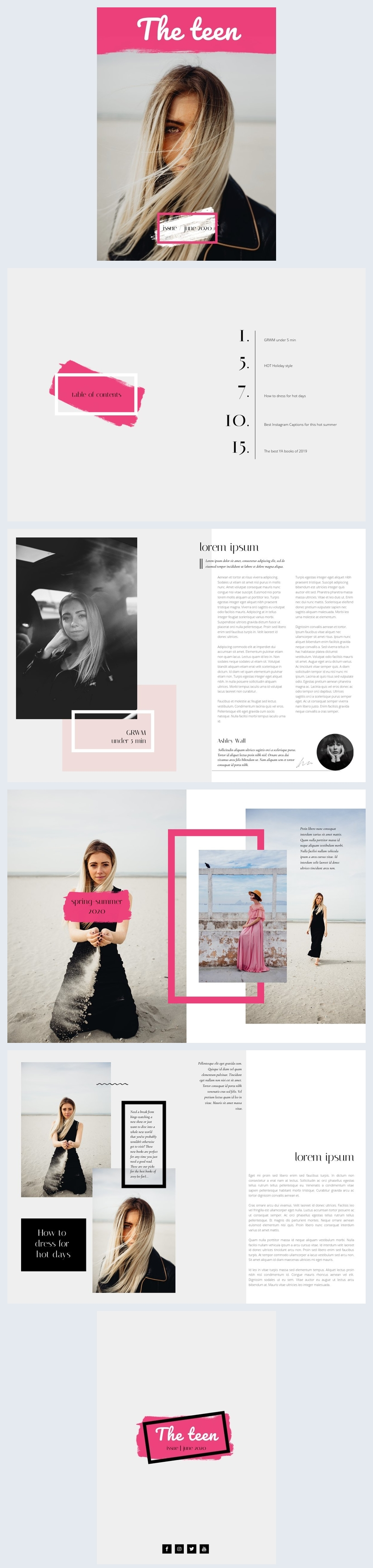 Teenagermagazin Design