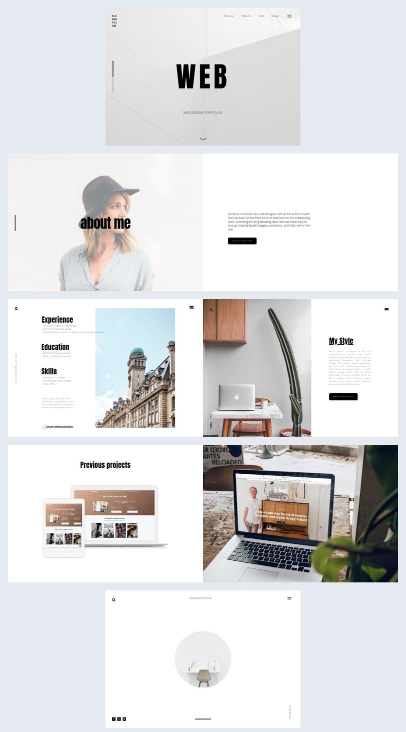 Plantilla para portafolio de diseñador web