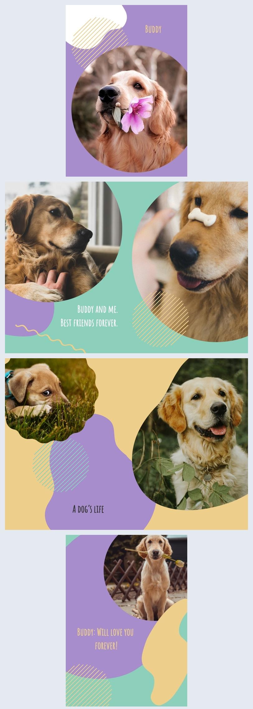 Hunde Erinnerungsfotoalbum Vorlage