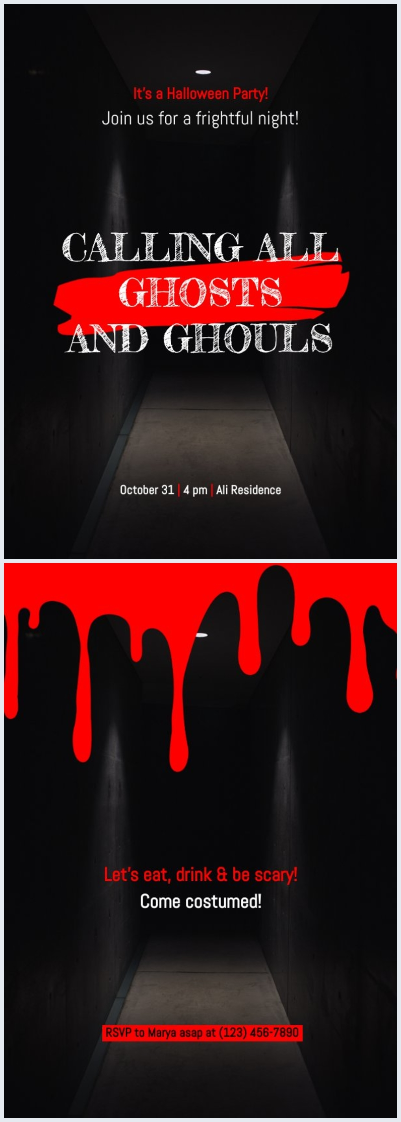 Modèle d'invitation Halloween