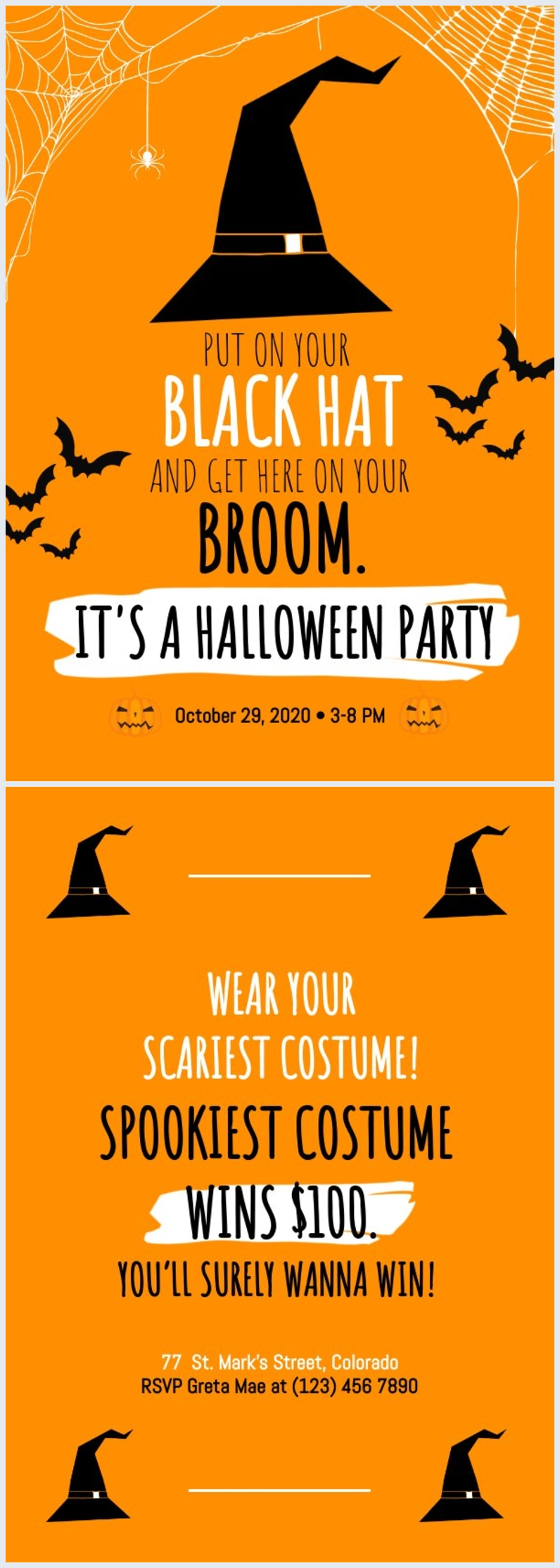 Halloween Invitation Template